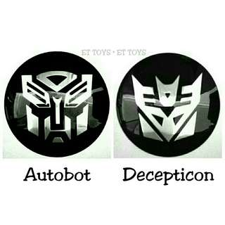 Autobot Decepticon Logo Aluminum 3D Emblem Sticker Transformers Movie G1 G2 Symbol