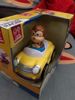 Bnib little learner push and go monkey car