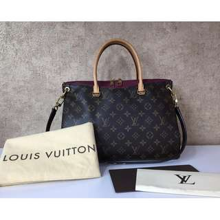 LOUIS VUITTON M40906 PALAS MONOGRAM AURORE COLORED CAR V 2-WAY HANDBAG