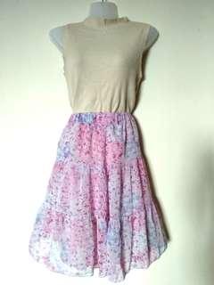Ruffled Purple Flower skirt