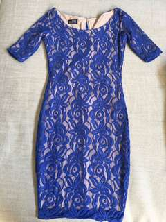Maureen Disini Blue Lace Dress