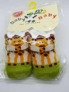 Korean Baby Socks 0-12 months (Giraffe Green)
