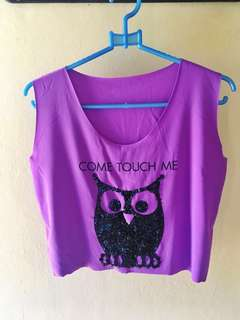 Owl Cropped Top