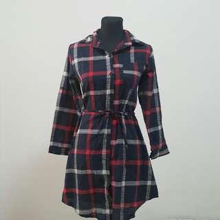 BNWOT Plaid Shift Dress