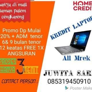 Laptop bisa kredit promo Free 1x angsuran