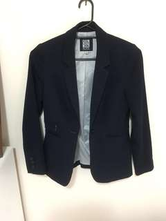 Beautiful Navy Blue Fitted Blazer Jacket - Size S BNWOT