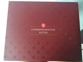 4x Sg50 Commemorative Notes Cover