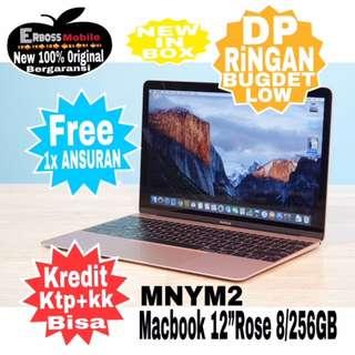 "MacBook-MNYM2-Rose-12""/8/256GB Cash/Kredit Dp 2jt ditoko ktp+kk Wa;081905288895"