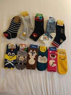 男女裝 韓國旅行連線 卡通襪 船襪 中筒襪