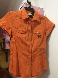 (M) Authentic Harley Davidson short sleeves shirt