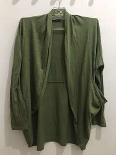 Topshop Olive Outer