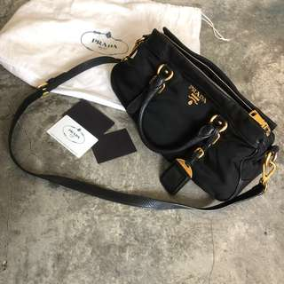 Prada Tessuto Nylon Black Cross Body Bag / Sling Bag