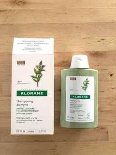 Klorane shampoo with myrtle