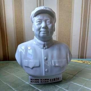 唐山一厂白瓷毛澤東像