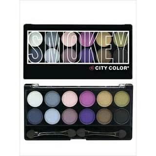 City color smokey eyeshadow pallete #mausupreme