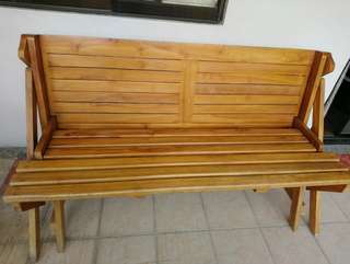 Wooden convertible picnic table