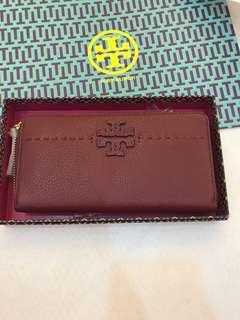 (Ready Stock)Tory Burch Duet Woven envelop Continental Wallet
