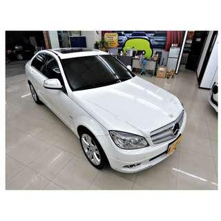『上嘉汽車』2008年 BENZ-C220 CDI 2.1白-定速巡航.ABS防鎖死煞車系統