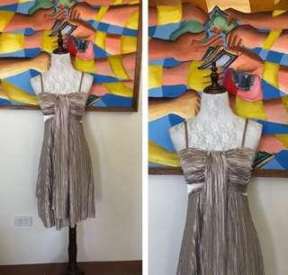 Cutout Pleated Dress
