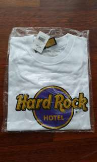 Authentic Hard Rock Cafe adults white classic tee Bali