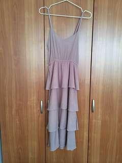 Super cute pink tiered dress