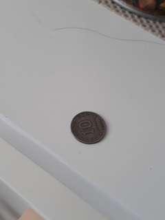 Koin 10 Rupiah Tahun 1971