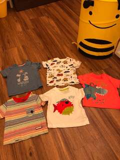 Mothercare Assorted T Shirts (3-6 months)