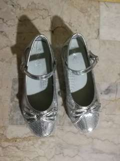 Silver Wedge Shoes