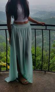 light blue maxi skirt