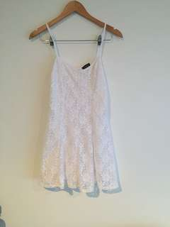 Topshop Lace White Sundress