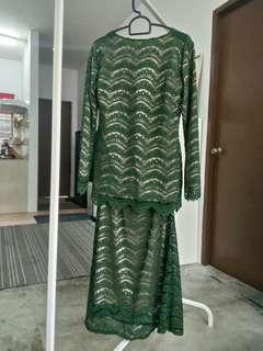 Baju Kurung Moden Emerald Green