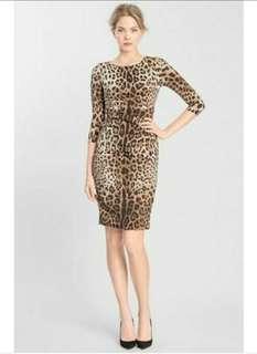 Preloved AUTHENTIC Terranova Bodycon Leopard Print Dress