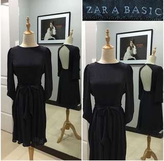 Zara Basic Open Back Dress
