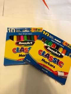2 packs of 10 super bright colors classic markers (包平郵)