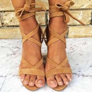 Siren Karina tie up heels