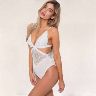 [PO] Lace Cut Out Bodysuit