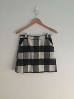 Topshop Check Skirt
