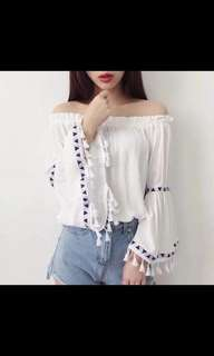 Boho Plain Fringe Top
