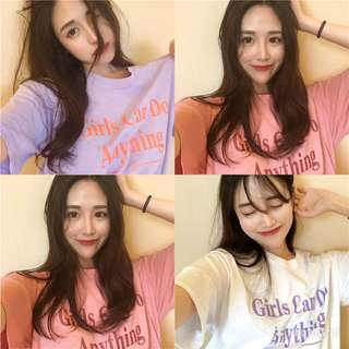 PO Ulzzang Girls Can Do Anything T-Shirt 3 Colours