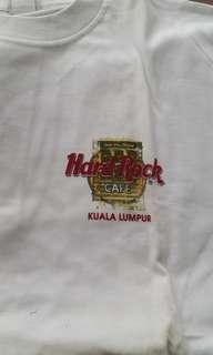 Authentic Hard Rock Cafe white tee Kuala Lumpur