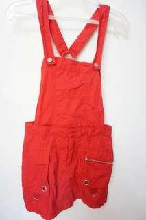 Red jumper skirt