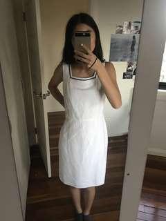 Trent Nathan white square neck dress