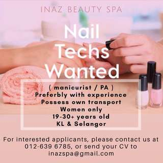 Looking for beautician / manicurist / PA