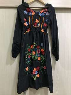 Bohemian / Floral Embroidered Dress