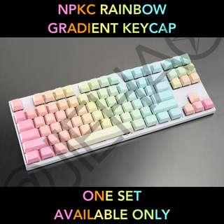 NPKC PBT Rainbow Keycap Set