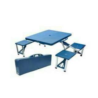 Meco Table Blue