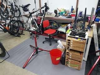 Bicycle overhaul/servicing
