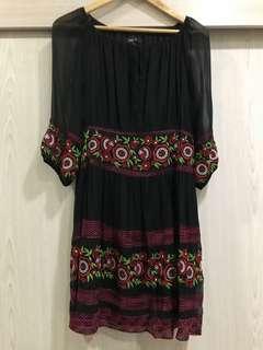 Black Foral Dress