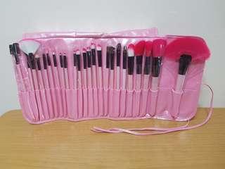 Full Makeup Brush Set in Pink
