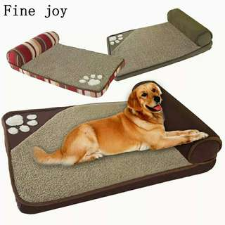 Fine joy Dog Beds for Large Dogs House Sofa Kennel Square Pillow Husky Labrador Teddy Large Dogs Cat House Beds Mat